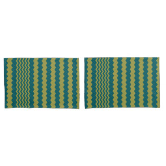 Green-Shaded Spruce Chevron - Turnover Pillow Case