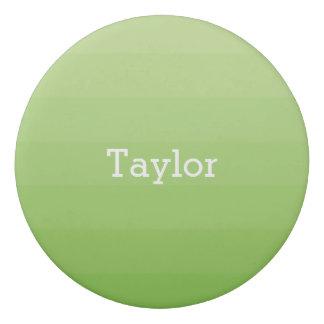 Green Shades Horizontal Stripes Youthful Eraser