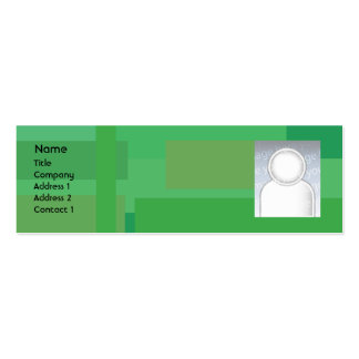 Green Shades - Skinny Mini Business Card