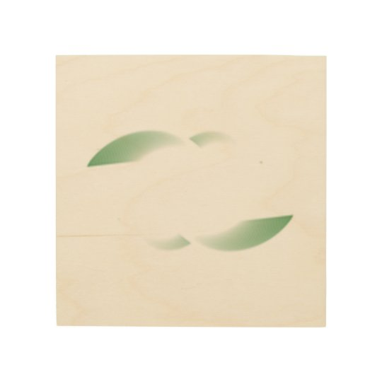 green shades wood wall art