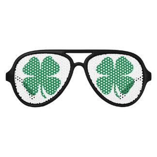Green Shamrock Aviator Sunglasses