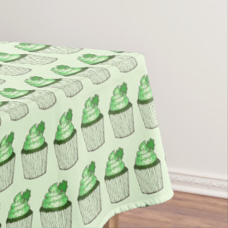 Green Shamrock Cake Cupcake St. Patrick's Day Tablecloth