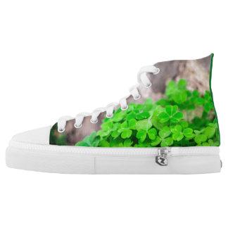 Green Shamrock Clover High Tops Sneakers