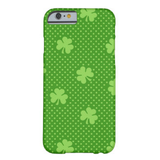 Green Shamrock Clover Pattern Saint Patricks Day Barely There iPhone 6 Case