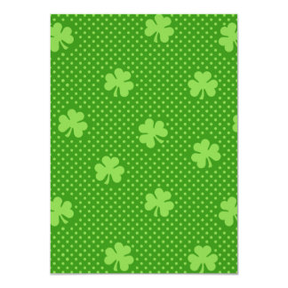 Green Shamrock Clover Pattern Saint Patricks Day Card