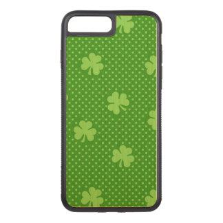 Green Shamrock Clover Pattern Saint Patricks Day Carved iPhone 8 Plus/7 Plus Case