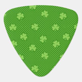 Green Shamrock Clover Pattern Saint Patricks Day Guitar Pick