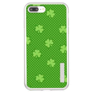 Green Shamrock Clover Pattern Saint Patricks Day Incipio DualPro Shine iPhone 8 Plus/7 Plus Case