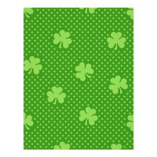 Green Shamrock Clover Pattern Saint Patricks Day Letterhead