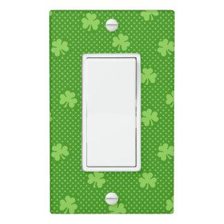 Green Shamrock Clover Pattern Saint Patricks Day Light Switch Cover