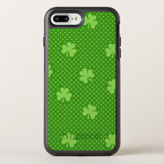 Green Shamrock Clover Pattern Saint Patricks Day OtterBox Symmetry iPhone 8 Plus/7 Plus Case