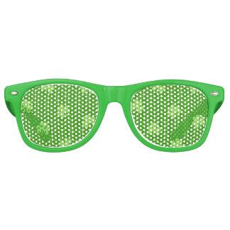 Green Shamrock Clover Pattern Saint Patricks Day Retro Sunglasses