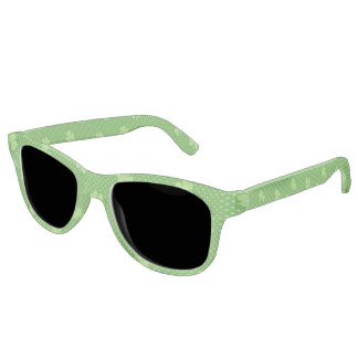 Green Shamrock Clover Pattern Saint Patricks Day Sunglasses