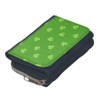 Green Shamrock Clover Pattern Saint Patricks Day Wallet