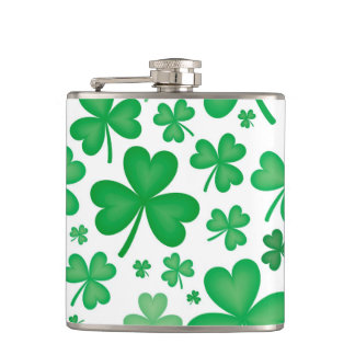 Green Shamrock Flask