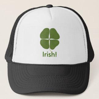 Green Shamrock Four Leaf Clover, Irish hat