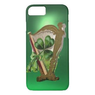 GREEN SHAMROCK HARP green iPhone 8/7 Case