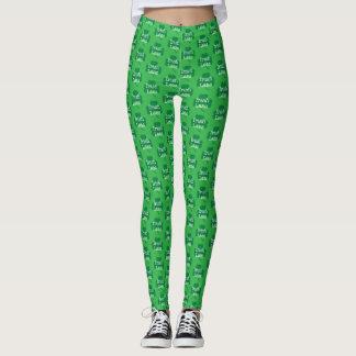 Green Shamrock, Irish Lass, St. Patrick's Day Leggings