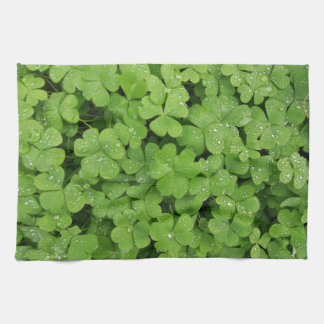 Green shamrock kitchen towel