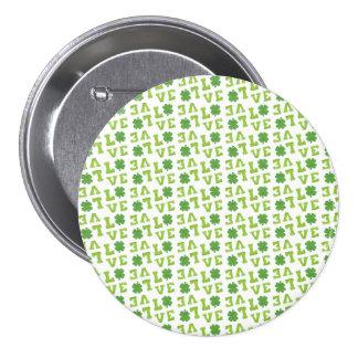 Green Shamrock Love Pin