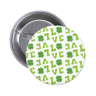 Green Shamrock Love Pins
