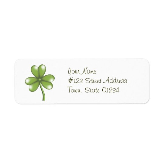 Green Shamrock Mailing Labels