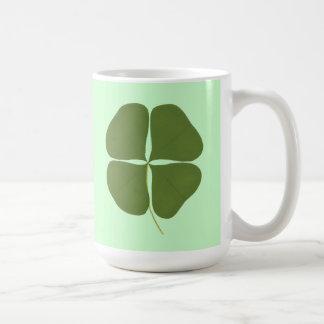 Green Shamrock Painting, Saint Patricks Day mugs