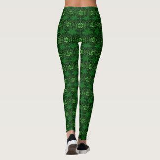 Green Shamrock Pattern Leggings