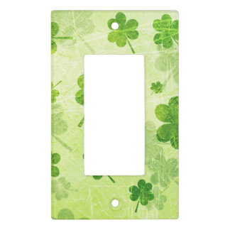 Green Shamrock Pattern Light Switch Cover