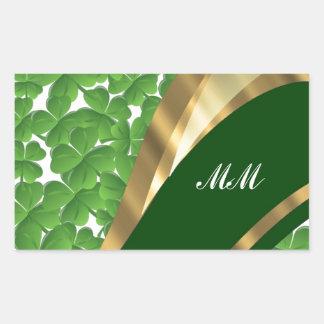 Green shamrock pattern stickers