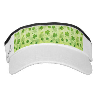 Green Shamrock Pattern Visor