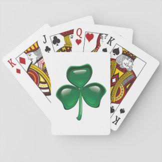 Green Shamrock Playing Cards