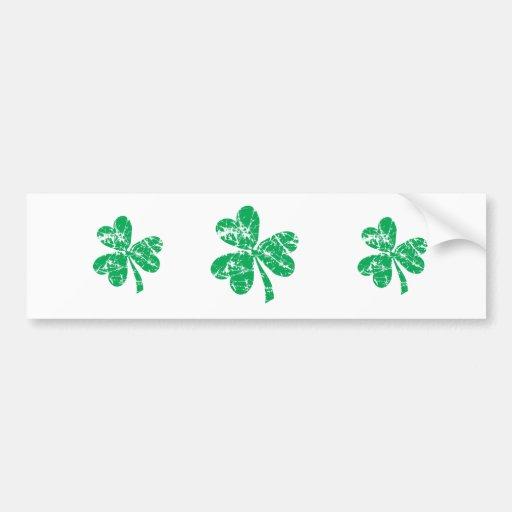 Green Shamrock St. Patrick's Day Bumper Sticker
