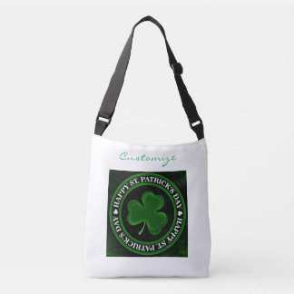 green Shamrock St Patrick's Day Crossbody Bag