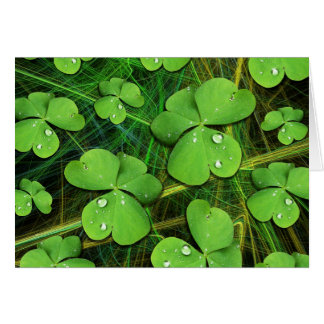 Green Shamrock St Patrick's Day Note Card