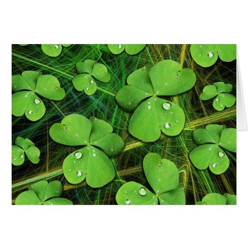 Green Shamrock St Patrick's Day Note Card