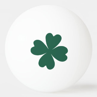 Green shamrock St Patricks Day Ping Pong Ball
