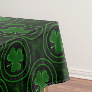 green Shamrock St Patrick's Day Tablecloth