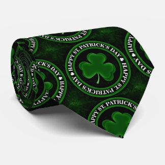 green Shamrock St Patrick's Day Thunder_Cove black Tie