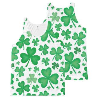 Green Shamrock Tank Top T-Shirt