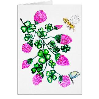 Green Shamrock Watercolor2 Card