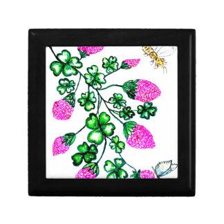 Green Shamrock Watercolor2 Gift Box