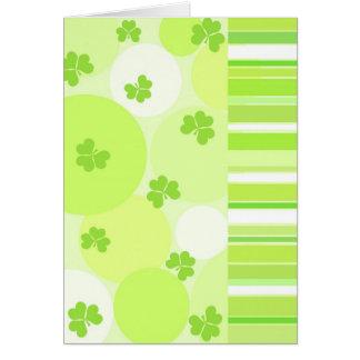 Green Shamrocks - Card