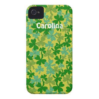 Green Shamrocks Custom Name Irish iphone 4g iPhone 4 Case