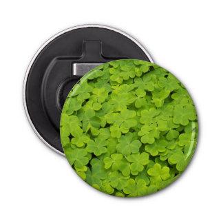 Green Shamrocks Floral Bottle Opener