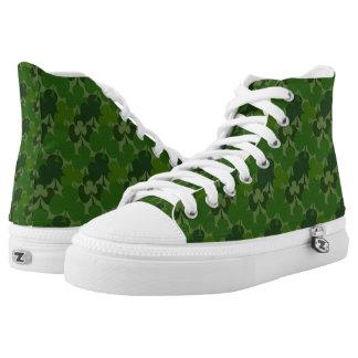 Green Shamrocks Hi Tops