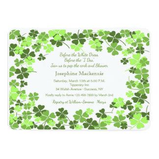Green Shamrocks Invitation