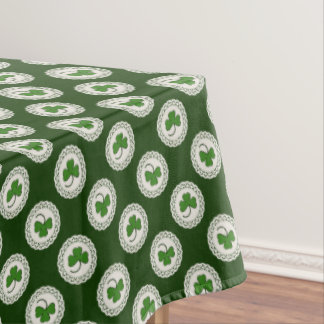 Green Shamrocks Lacy Doily Tablecloth