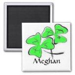 Green Shamrocks Magnet personalized