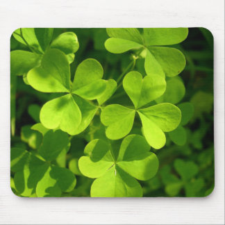 Green Shamrocks Mouse Mat